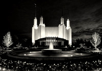 Mormon Temple in Black and White